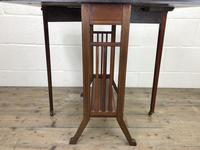 Antique Mahogany Inlaid Sutherland Side Table (9 of 9)