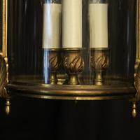 French Gilded Triple Light Convex Hall Lantern (8 of 10)