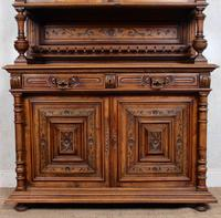 Large German Carved Walnut Bookcase Cabinet 19th Century (4 of 14)