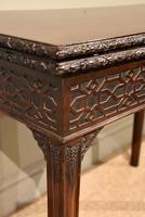 18th Century Carved Mahogany Tea Table (6 of 7)