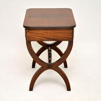 Antique Regency Style Mahogany Side Table (2 of 8)
