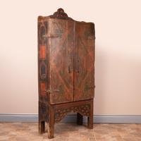 19th Century Spanish Painted 2 Door Cupboard (14 of 21)