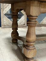 Deep Bleached Oak French Farmhouse Dining Table (10 of 20)