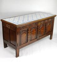 Decorative 17th Century Converted Inlaid Oak Coffer (7 of 7)