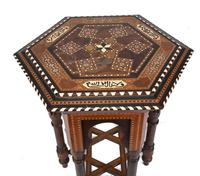 Damascan Side Table Octagonal Arabic Interiors Inlay (2 of 10)
