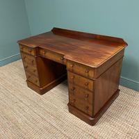 Quality Victorian Mahogany Antique Pedestal Desk (6 of 8)