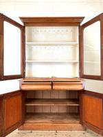 Antique Victorian Mahogany Glazed Bookcase (5 of 9)