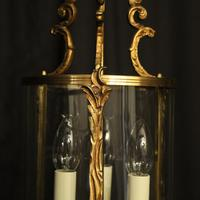 French Gilded Convex Antique Hall Lantern (5 of 7)
