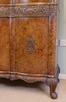 Antique Impressive Burr Oak Cocktail Drinks Cabinet (11 of 16)