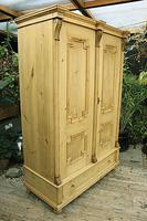 Fabulous & Large Old Pine Double 'Knock Down' Wardrobe - We Deliver! (14 of 18)