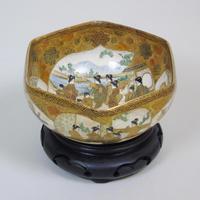 Antique Meiji Satsuma Bowl on Stand Signed (6 of 10)