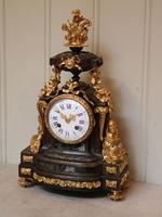 French Louis XVI Style Parcel-Gilt Bronze Mantel Clock (3 of 18)