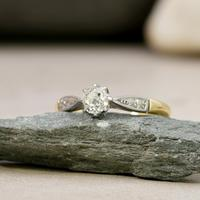 The Antique Old European Cut Diamond Solitaire Ring