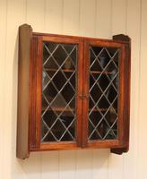 Oak Glazed Wall Cabinet (7 of 9)