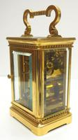 Rare Antique French 8-day Carriage Clock Unusual Masked Dial Case with Enamel Dial (7 of 10)