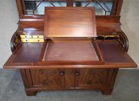 19th Century Figured Mahogany Cylinder Bureau Bookcase (9 of 12)