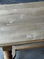 French Bleached Oak Refectory Farmhouse Dining Table (22 of 26)