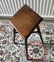 Unusual Arts and Crafts Quartered Oak Side Table