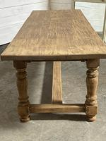Nice Large Bleached Oak Farmhouse Dining Table With Extensions (15 of 35)