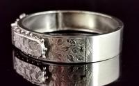 Antique Victorian Silver Buckle Bangle (6 of 11)