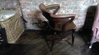 Gillows Quality Leather Backed Desk Chair with Refinements (2 of 5)