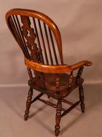 Victorian Broad Arm Windsor Chair Ash & Elm (3 of 9)