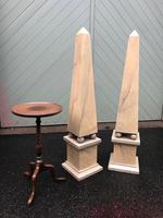Pair of Wooden Faux Marble Painted Obelisk (2 of 7)