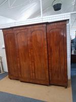 Antique Victorian Breakfront Wardrobe (5 of 6)