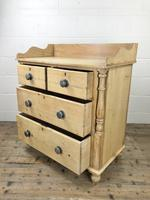 Victorian Antique Pine Chest of Drawers with Gallery Back (8 of 10)