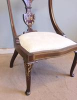 Antique Inlaid Mahogany Occasional Chair (7 of 7)