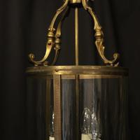 French Gilded Brass Triple Light Antique Lantern (3 of 10)