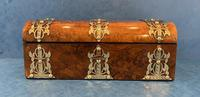 Victorian Brassbound Burr Walnut Glove Box (3 of 9)