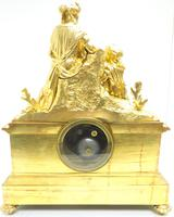 Antique 8 Day Ormolu Mantel Clock Sevres Mother & Child French Mantle Clock (9 of 16)