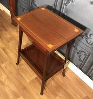 Edwardian Inlaid Mahogany Sewing Box (2 of 11)