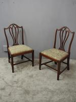 Pair of George III Mahogany Dining Chairs (3 of 10)