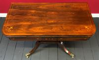 Exceptional Regency Period Rosewood Inlaid Fold-over Occasional Card Games Table (6 of 14)