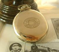 Antique Pocket Watch 1920s Winegartens 7 Jewel Railway Regulator Silver Nickel Case FWO (4 of 12)