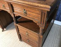 Victorian Oak Aesthetic Movement Desk (5 of 18)