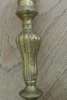 Fine Pair of 18th Century French Brass Candlesticks Seamed (8 of 11)