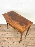 Reproduction Mahogany Bow Front Side Table (5 of 9)