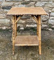 Antique Victorian Bamboo & Rattan Occasional Side Table (2 of 9)