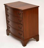Antique Georgian Style Flame Mahogany Serpentine Chest of  Drawers (4 of 9)