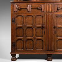 Antique Carved Court Cabinet, English, Oak, Sideboard, Jacobean Revival c.1910 (11 of 12)