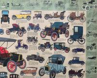 Intriguing Very Large 1960s Oak Framed Vintage Car Automotive Lithograph Poster (5 of 13)