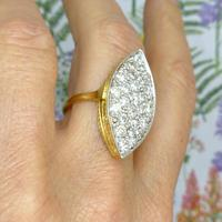 Stunning Vintage 18ct Gold Marquise Diamond Cluster Ring 1.65ct ~ With Independent Appraisal / Valuation (5 of 10)