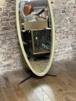 Olive Coloured 1960's Oval Mirror (2 of 5)