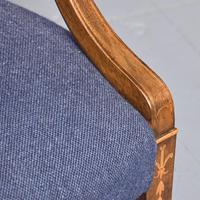 Pair of Inlaid Mahogany Georgian Hepplewhite Armchairs (5 of 7)