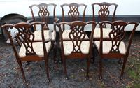 1900's Quality Mahogany Set of 6 Georgian style Dining Chairs with Pop out Seats (4 of 4)