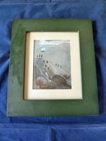 """Anna MacMiadhachain Irish School Painting """" Boat in Harbour"""""""