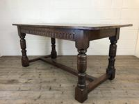 Early 20th Century Antique Oak Refectory Table (M-1739) (13 of 16)